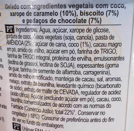 Ben & Jerry's Glace Pot Noix de Coco Caramel - Ingredientes - pt
