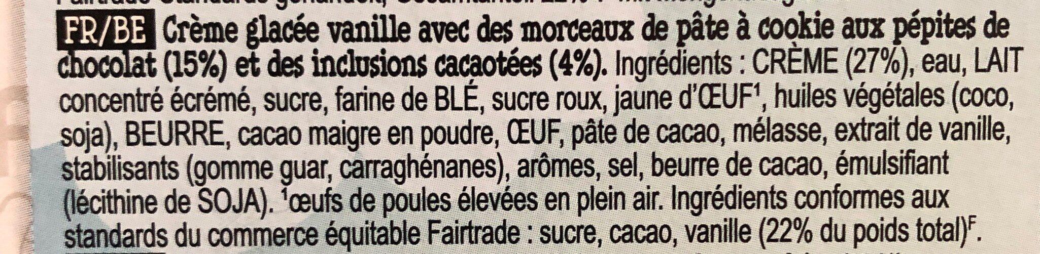 Ben & Jerry's Glace Pot Mini The Vanilla Cool-lection 4x100ml - Ingredienti - fr