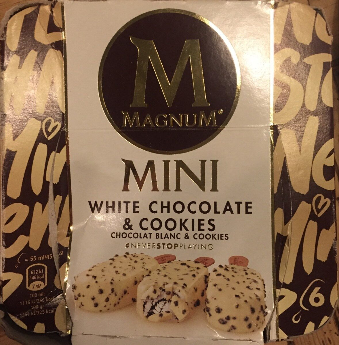Magnum Glace Batonnet Chocolat Blanc Cookies - Product - fr