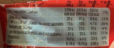 KINDER Bueno Barre Glacée Noisette enrobée de Chocolat au Lait - Informations nutritionnelles