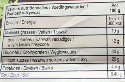 Magnum Glace Sandwich Brownie Vanille Caramel - Informations nutritionnelles - fr