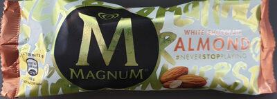 Lody z wanilią z Madagaskaru w białej czekoladzie (28%) z migdałami (5%) - Product