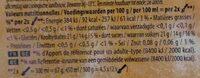 Carte D'or Sorbet Bio Mangue d'Inde 450ml - Valori nutrizionali - fr