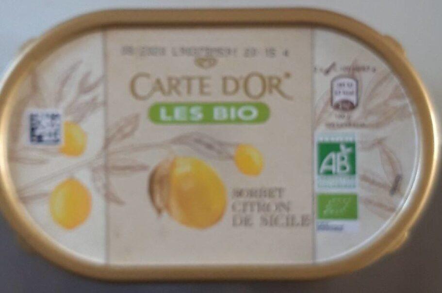 Carte d'or - Les bio sorbet citron de Sicile - Produit - fr