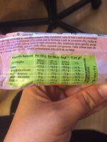 Helado de sorbete de frutos rojos - Información nutricional - es