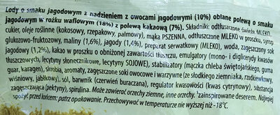 Lody o smaku jagodowym - Składniki - pl