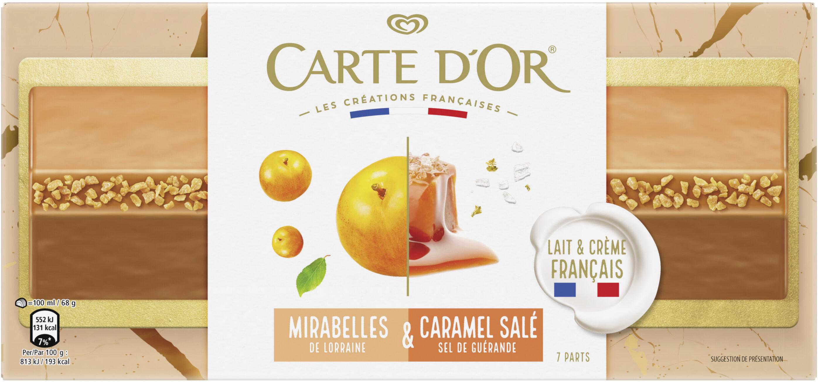 Carte D'or Glace Bûche Mirabelles Caramel 7 parts 700ml - Prodotto - fr