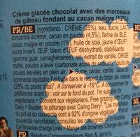 Chocolate fudge brownie - Ingrédients - fr