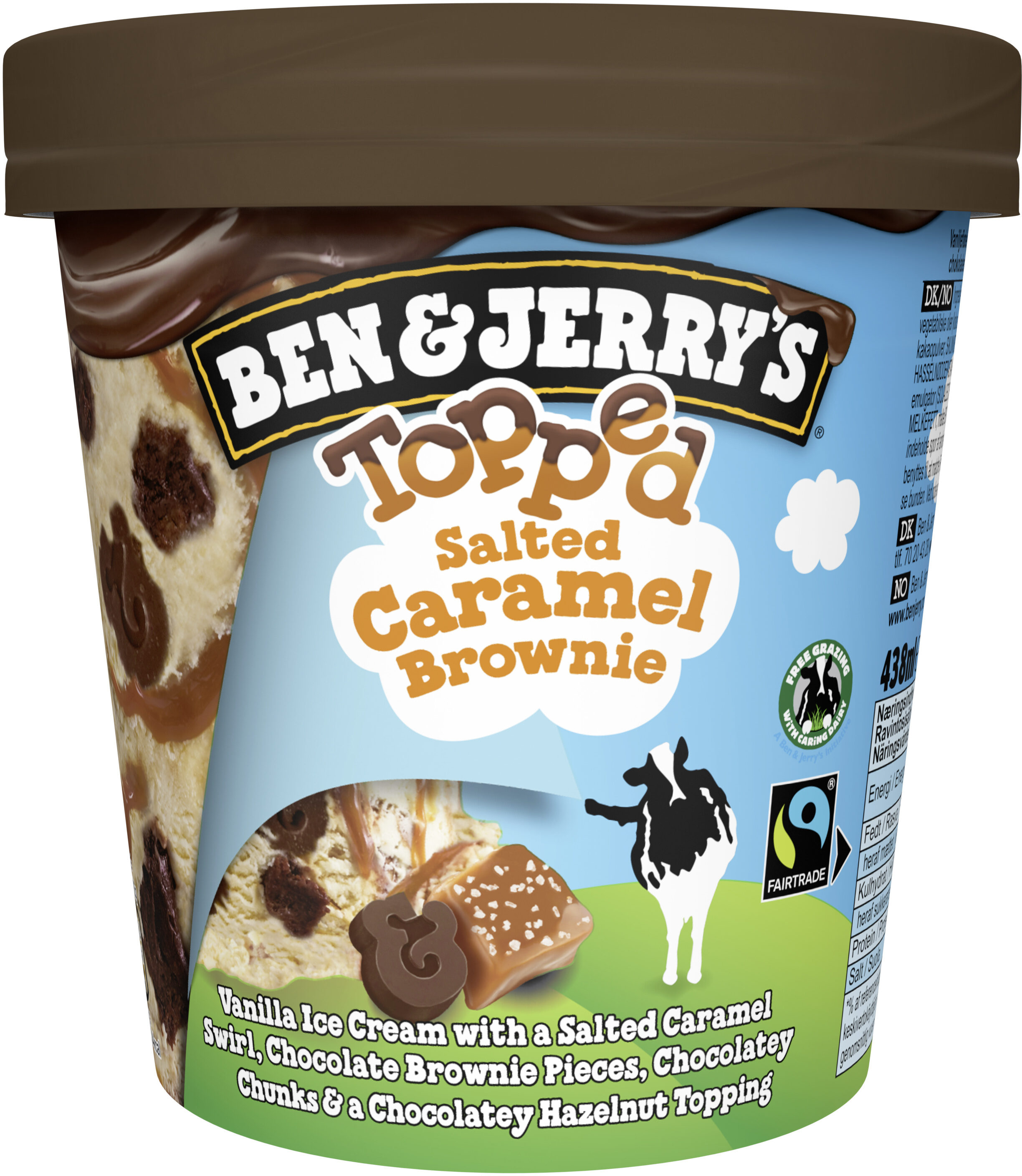 Ben & Jerry's Glace Pot Topped Salted Caramel Brownie 438ml - Prodotto - fr