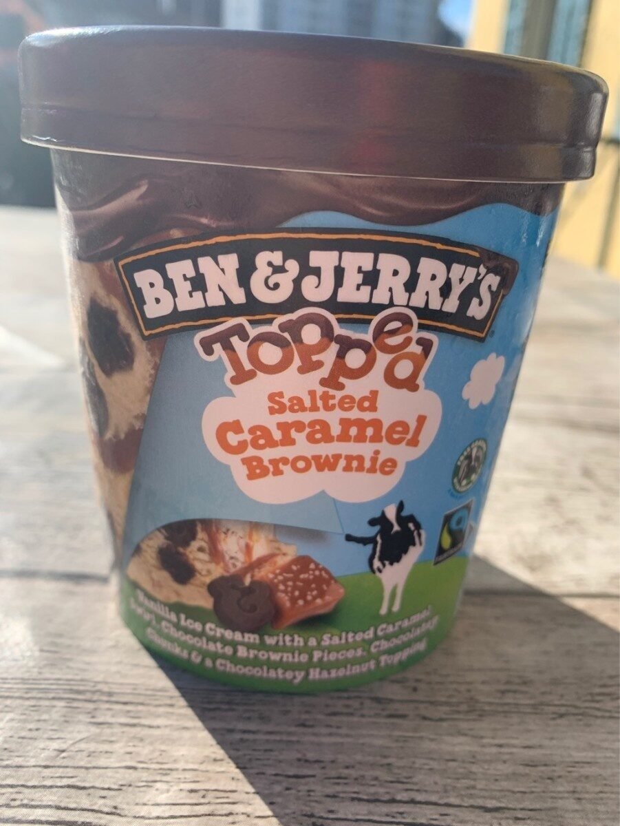 Ben & Jerry's Glace Pot Topped Salted Caramel Brownie - Product - fr