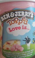 Ben & Jerry's Glace Pot Topped Love is - Product - fr