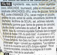 Ben & Jerry's Glace en Pot Peanut Butter Cookies 465ml - Ingredients - fr