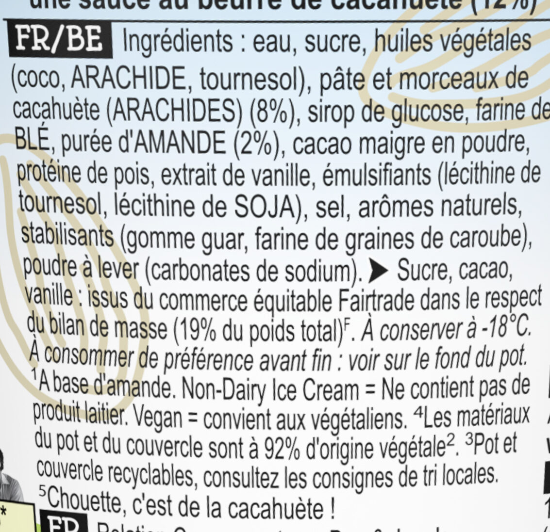 Ben & Jerry's Glace en Pot Peanut Butter Cookies 465ml - Ingredients - fr