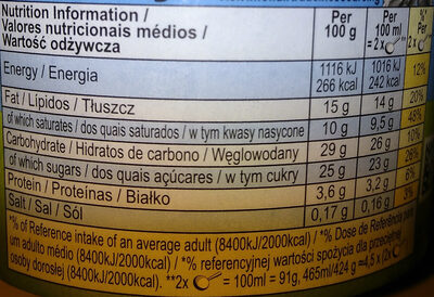 Ben & Jerry's Glace Pot Caramel Chew Chew 465ml - Nutrition facts - en