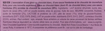 Magnum Glace Bâtonnet Ruby x4 - Ingrédients - fr