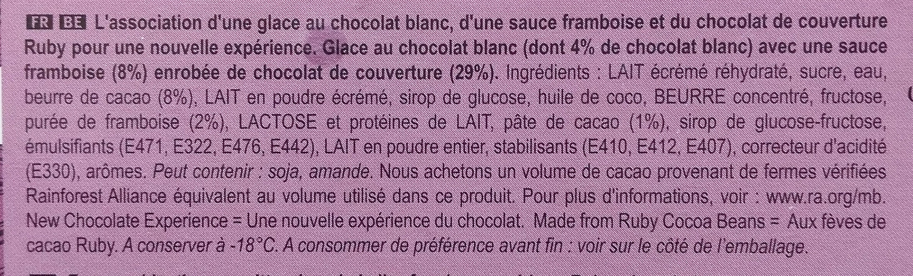 MAGNUM Glace Bâtonnet Ruby 4x90ml - Ingrédients - fr