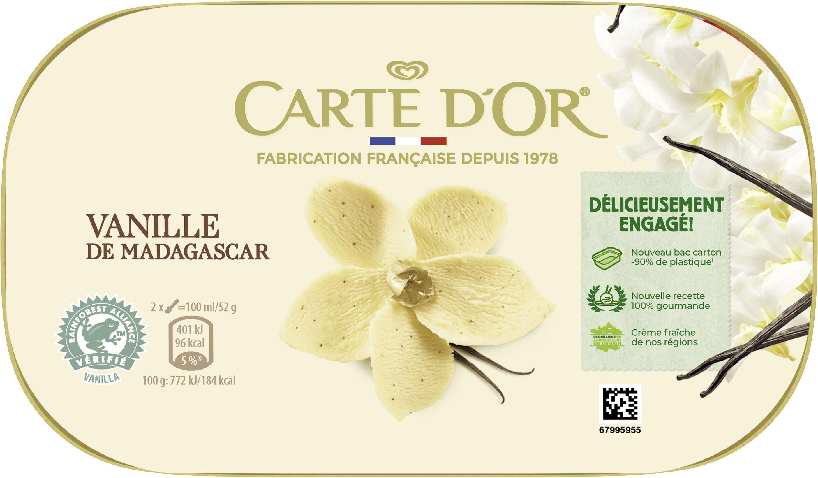 Carte D'or Glace Vanille de Madagascar 900ml - Produit - fr