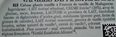 Carte D'or Glace Vanille de Madagascar - Ingredients - fr