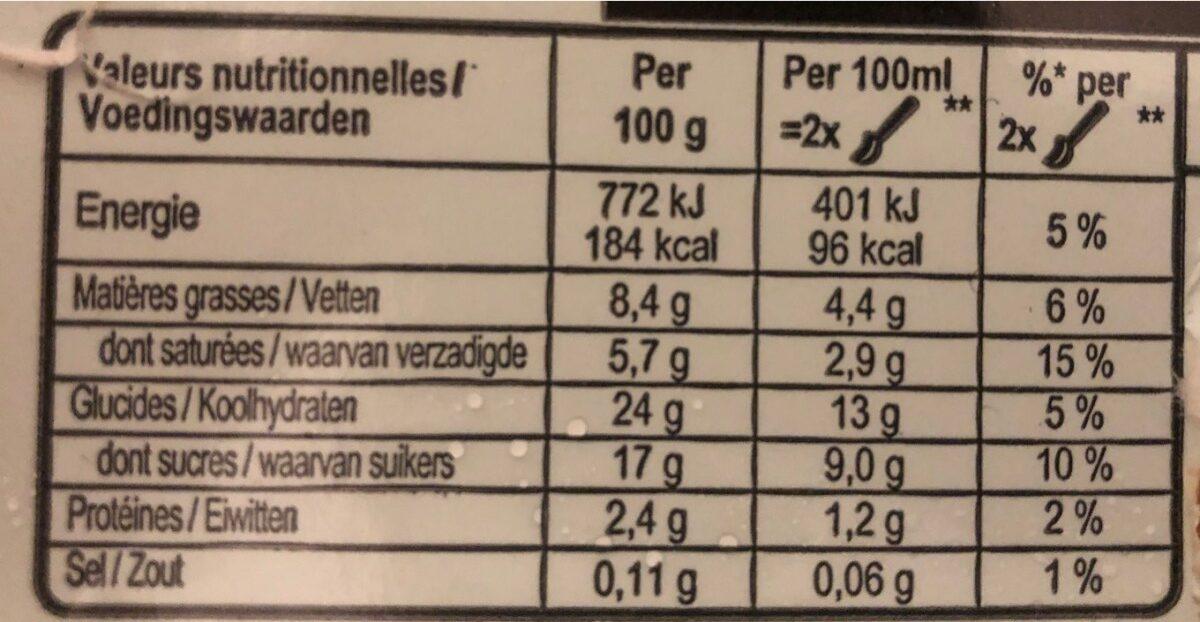 Carte D'or Glace Vanille de Madagascar - Nutrition facts - fr