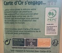 Carte D'or Glace Vanille de Madagascar 900ml - Instruction de recyclage et/ou informations d'emballage - fr