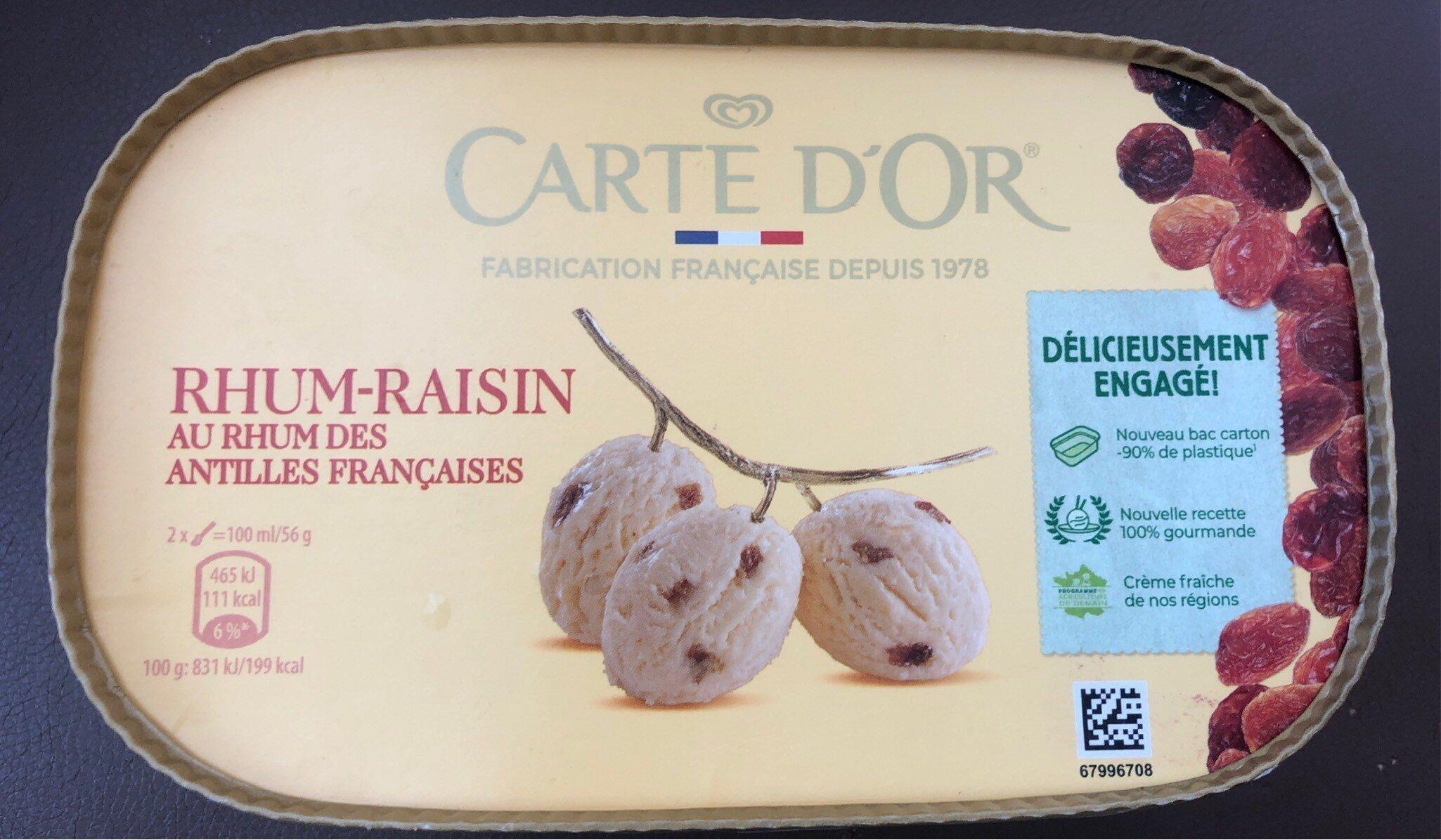 Carte D'or Glace Rhum Raisins - Produit - fr