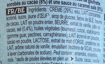 Ben & Jerry's Glace en Pot Cone Together - Ingredientes - fr