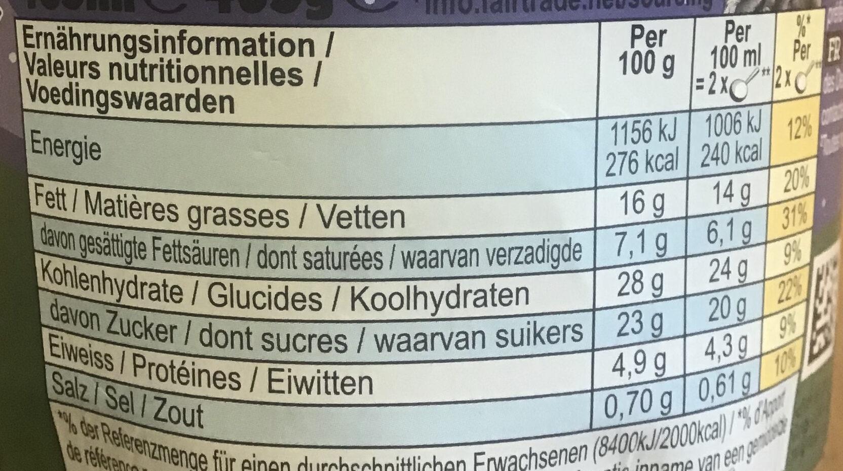 Netflix & chill'd - Voedingswaarden - nl