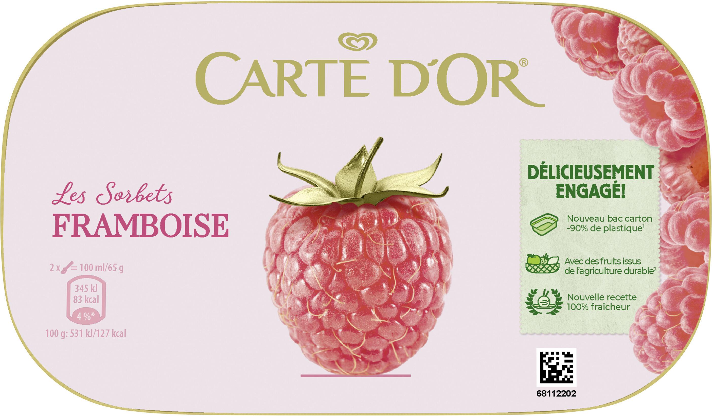 Carte D'or Sorbet Framboise 900ml - Prodotto - fr