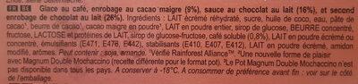 Magnum Double Mochaccino x4 - Ingredients - fr
