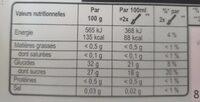 Carte D'or Sorbet Citron Vert - Nutrition facts - fr