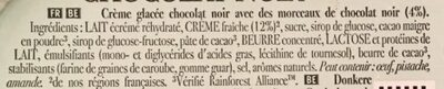 Carte D'or Glace Chocolat Noir - Ingrédients - fr
