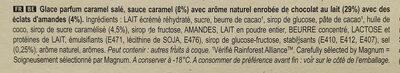 Magnum Glace Bâtonnet Caramel Salé & Amandes Caramélisées x4 - Ingrédients - fr
