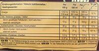 COLLECTION caramel salé & éclats d'amandes - Nutrition facts - fr
