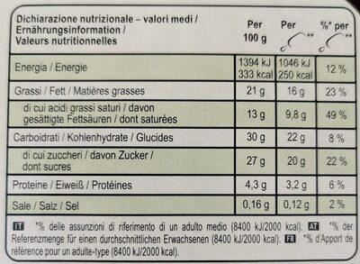 Magnum Glace Batonnet Pistache X4 - 400ml - Informations nutritionnelles - fr