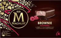 Magnum Barre Glacée Brownie Framboise x4 200ml - Produit - fr