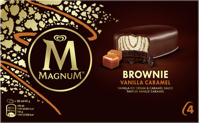 Magnum Barre Glacée Brownie Vanille Caramel x4 - Prodotto - fr