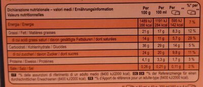Magnum Barre Glacée Brownie Vanille Caramel x4 200ml - Informazioni nutrizionali - fr