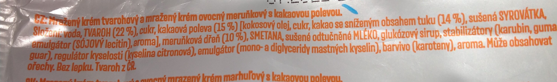 Míša-Meruňka - Ingrédients - cs