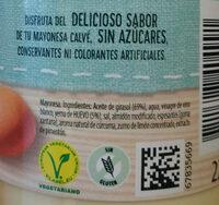 Calvé Zero mayonesa - Ingredients - es