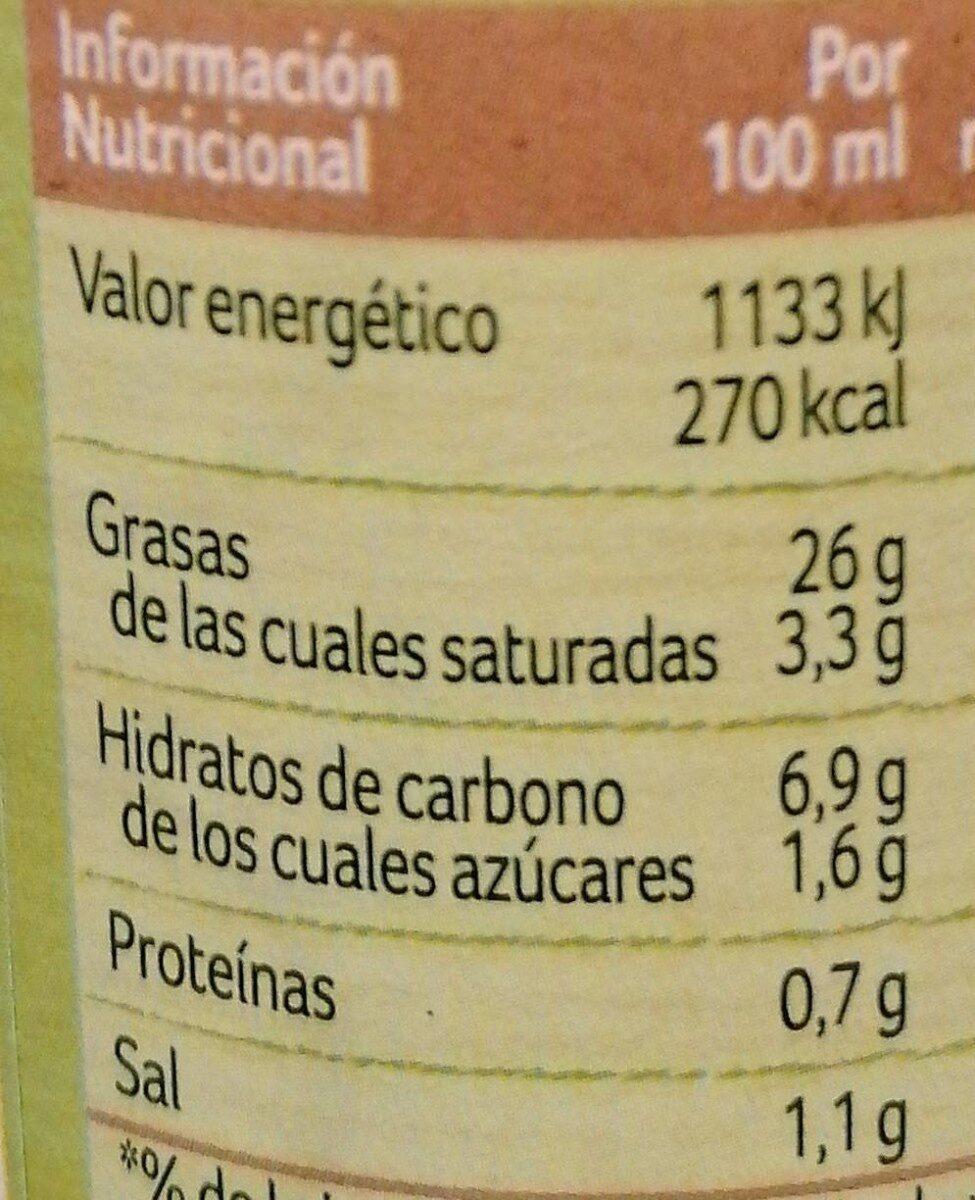 Ligeresa nature - Información nutricional - es