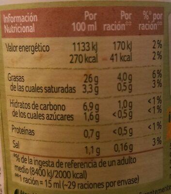 Nature - Información nutricional - es