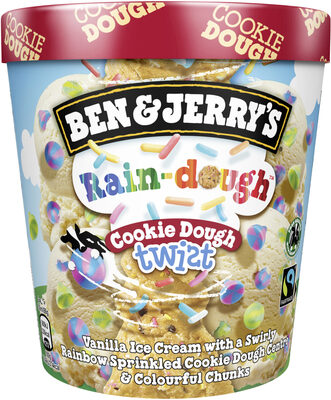 Ben & Jerry's Rain-dough Cookie Dough Twist - Product - en