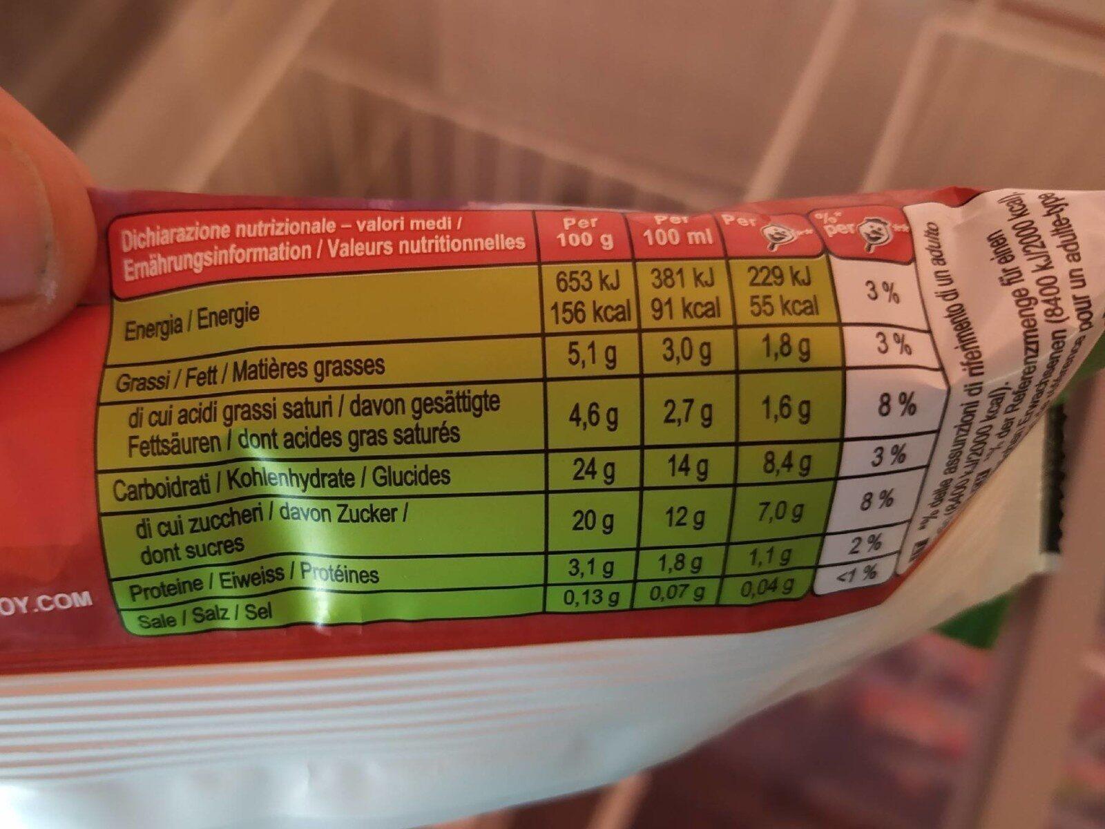 Olaf Ice Cream - Valori nutrizionali - fr