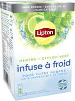 Lipton Infuse à Froid Menthe 15 Sachets - Prodotto - fr