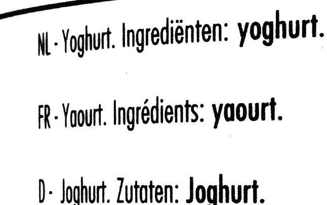 BOER'N YOGHURT naturel - Ingredients - de