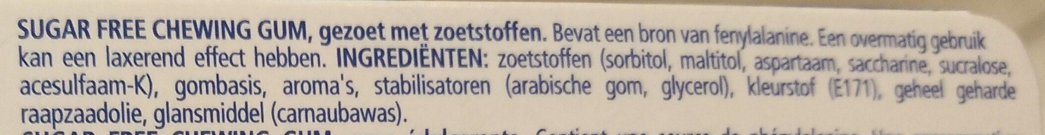 Peppermint Sugar Free Gums - Ingrediënten