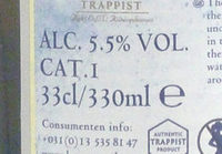Trappist - Informations nutritionnelles