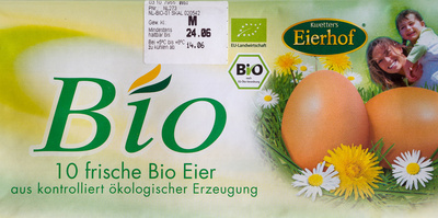 10 frische Bio Eier - Product