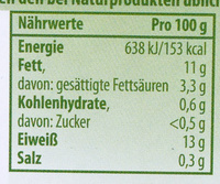 Œufs - Nutrition facts