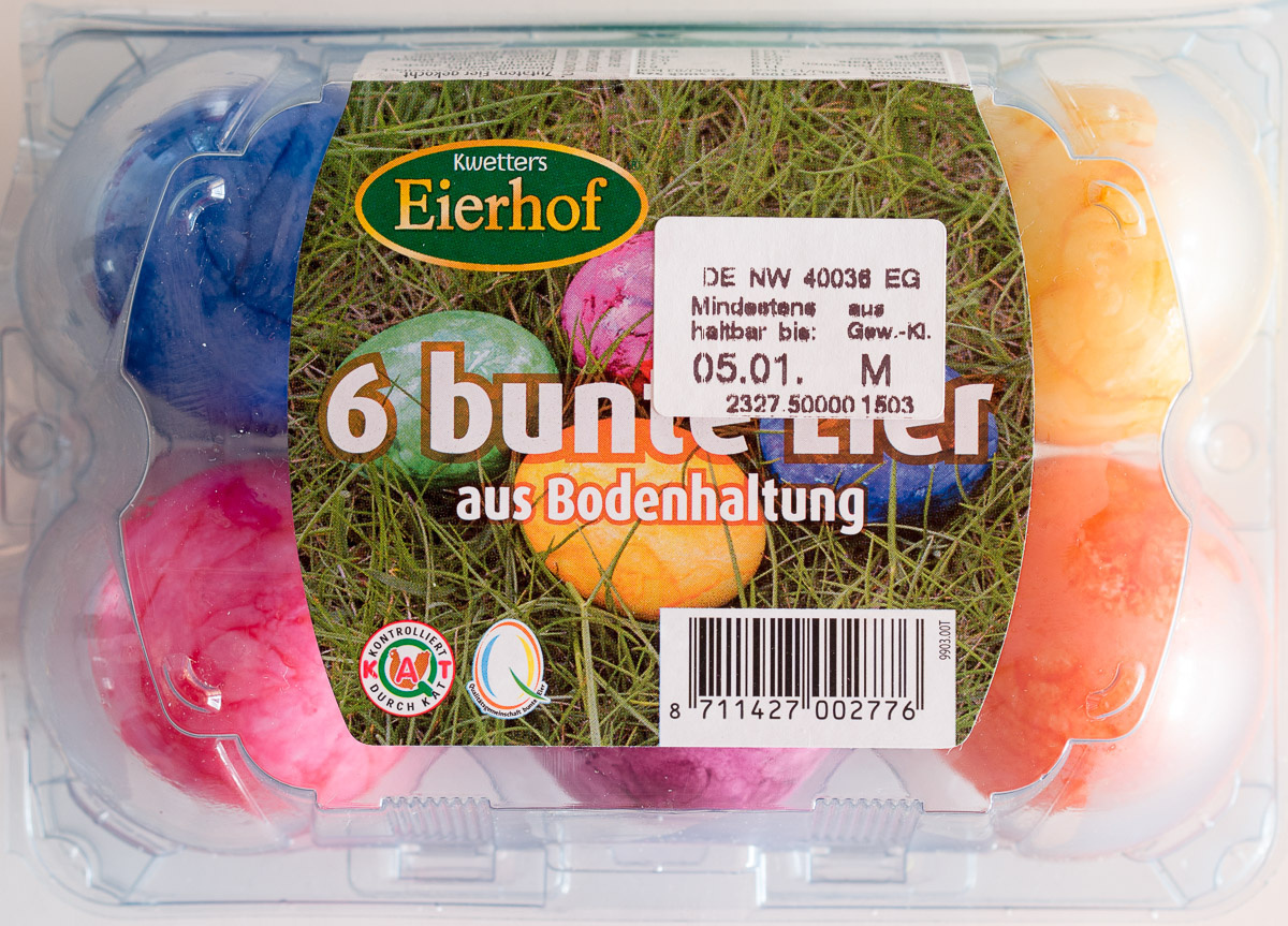 6 bunte Eier aus Bodenhaltung - Product - de